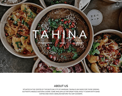 Tahina- an ecommerce store for Middle Eastern cuisine