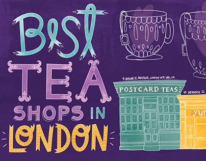 Best Tea Shops in London map