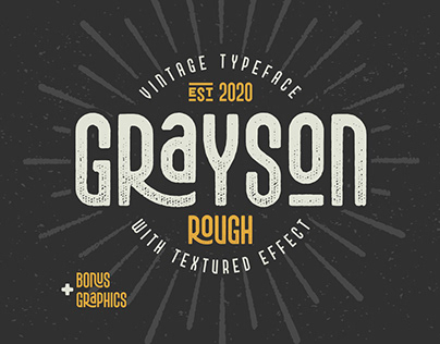 Grayson Rough Font and Graphics