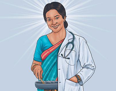 Illustration for Mother's Day communication | BRAC Bank