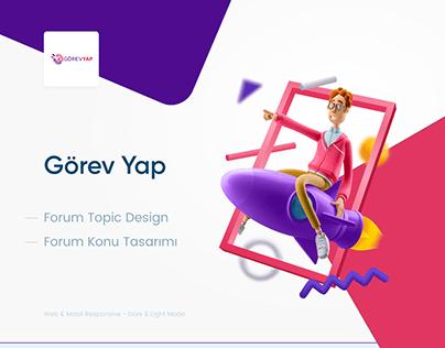 Gorev Yap Topic Design