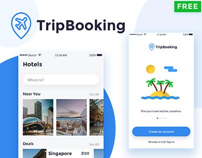 TripBooking UIkit - Freebie