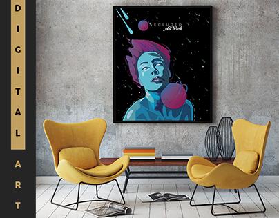 Secluded Planet - Digital Art - Illustration.