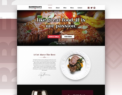 'Barberian's Steakhouse' - Website Redesign