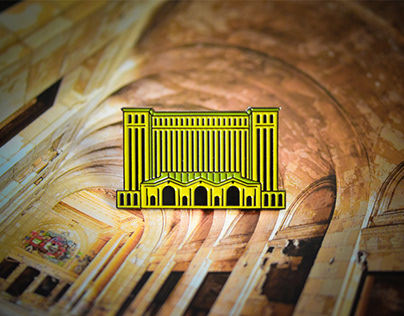 Michigan Central Station Gilded Pins
