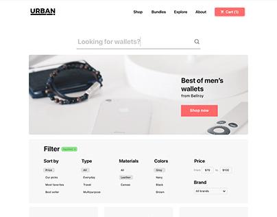 UrbanStore - Ecommerce Website Redesign