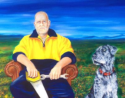 "Portrait - ""A man with a vision"" - Acrylic on Canvas"