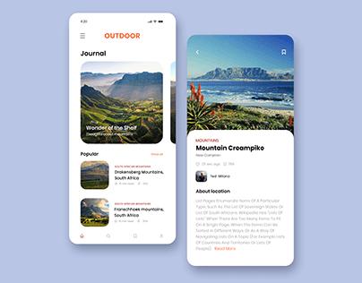 Travel journal app