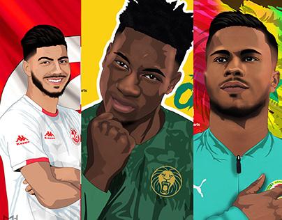 AFCON 2019 - Illustrations