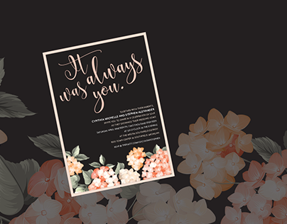 """It was always you"" Wedding Invitations"