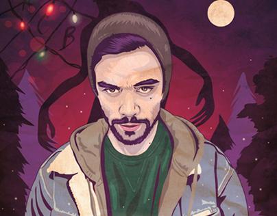 """Netflix TV series """"Stranger Things"""" Portrait Inspired"""