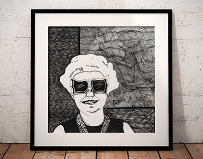 Illustration - Portrait of Peggy Guggenheim