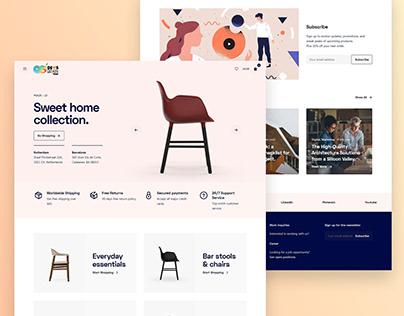 Sweet Home - Ecommerce Responsive Website Design