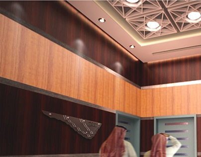 Interior design of a VIP enterance. King Salman hall.
