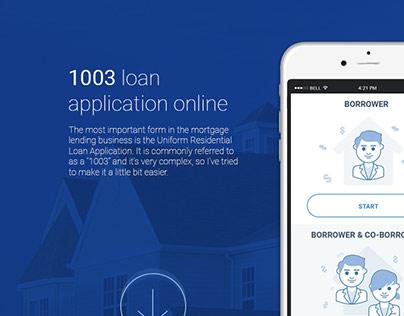 1003 loan application (proposal)