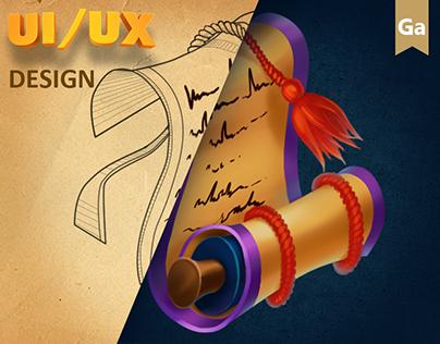 UI/UX Design for RPG Game