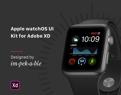 Apple watchOS UI Kit for Adobe XD