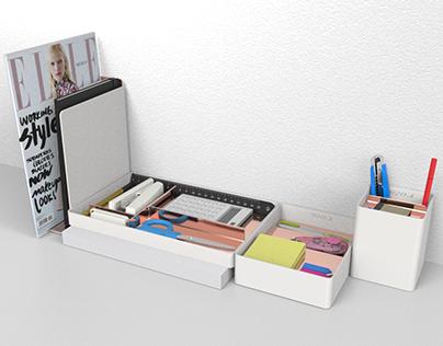 Two-sided Desk Organization