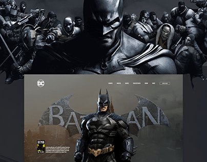 BATMAN - WEBSITE DESIGN