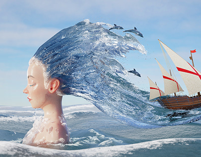Lorelei: 3d sea artwork