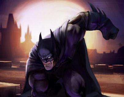 Dark Knight Fan Art using Procreate
