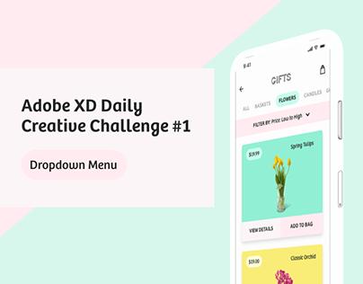 Adobe XD Daily Creative Challenge #1 - Dropdown Menu