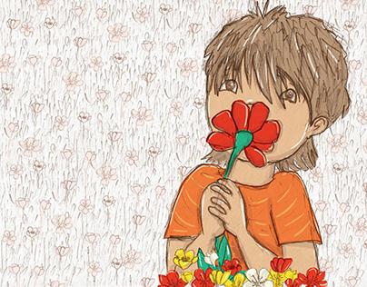 Daniel wants more- children's book illustration