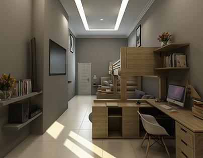 Bedroom With Bunk Bed Design