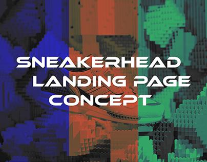 Sneakerhead Landing Page Concept