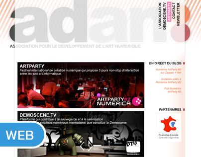"""Maquette site internet """"A.D.A.N."""""""