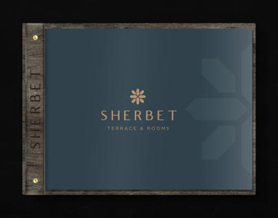Sherbet Terrace and Rooms Menu Design