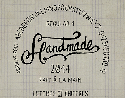 Handmade font regular freehand - Fait main 1