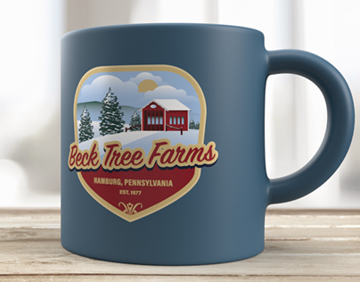 Beck Tree Farms logo and signage