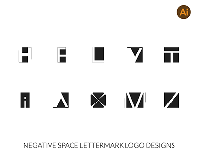 Negative Space Lettermark Logo Designs