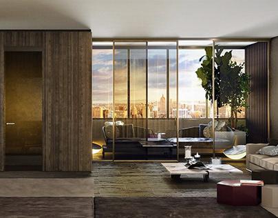 3d visualization of interior design