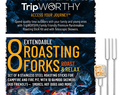 Amazon A+ (EBC) Design for TripWorthy Roasting Forks