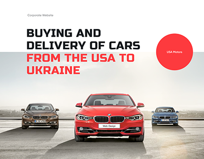 Сorporate Website Delivery of Cars from the USA