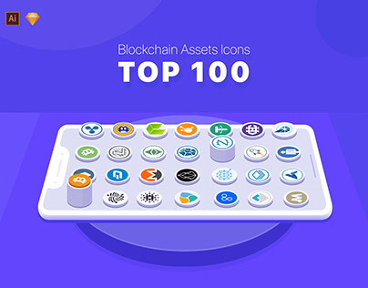 100 Cryptocurrency Vector Icons