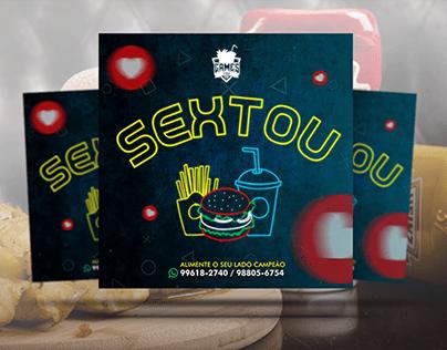 Social Media - Gamesfood Lanchonete e Pizzaria