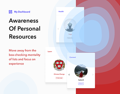 Personal Dashboard (UX Case Study)