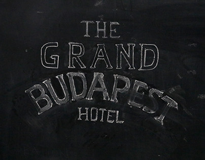 Stop Motion Typography — Grand Budapest Hotel