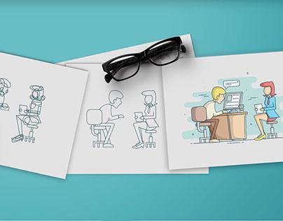 Illustration style - Freecharge