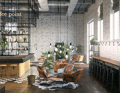Кофейня в бывшем здании пекарни The Bond Bread CША