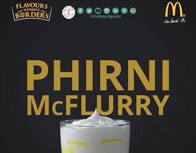 McDonald's Phirni McFlurry Food stylist Payal Gupta