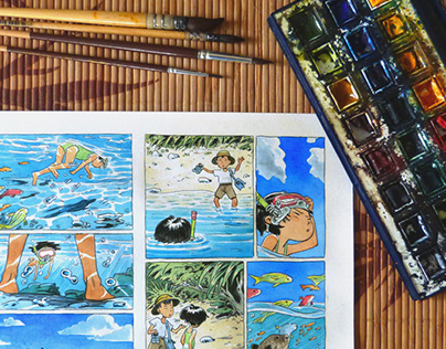 An Irabucha's Dream - watercolor minicomic