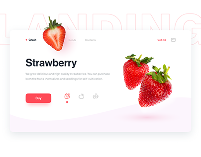 Landing page — Strawberry & Fruits selling | UI/UX