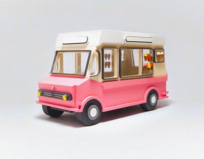 360 Ice Cream Truck (Laser Cut Model)