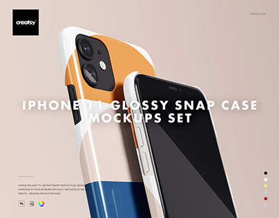iPhone 11 Glossy Snap Case Mockup Set
