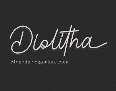 Diolitha - Monoline Signature Font