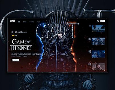 UI Design - Game Of Throne